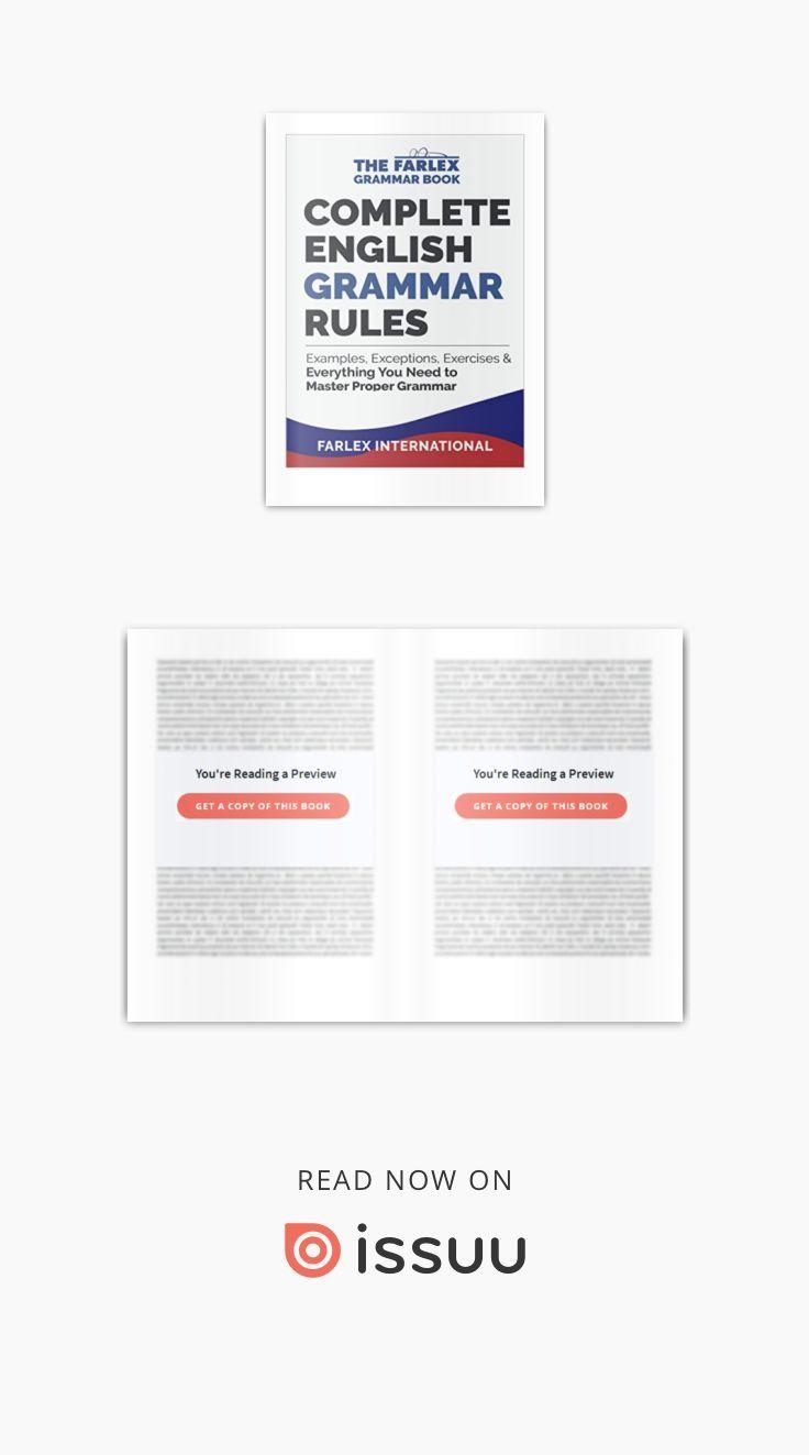 Complete English Grammar Rules Pdf Farlex International Examples