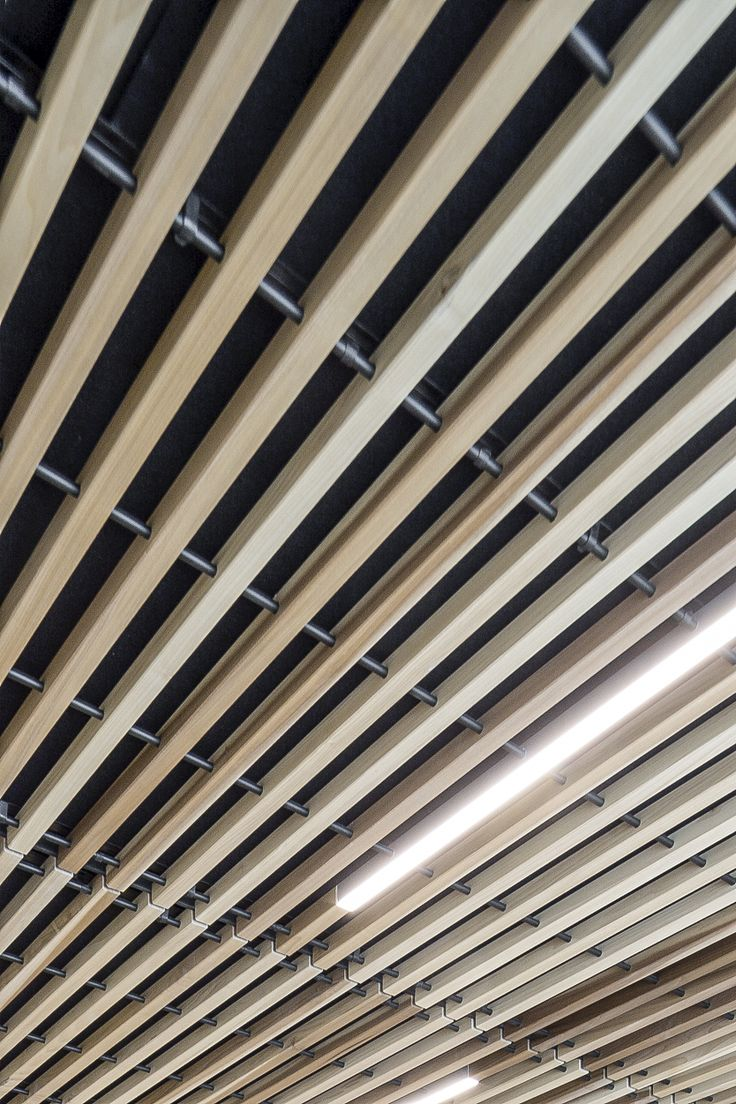 44 best wood ceilings images on pinterest innovation sound absorbing and wood ceilings - Wood slat ceiling system ...