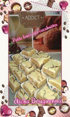 Petits fours aux cacahuètes et chocolat... sans cuisson qui marie gourmandise et saveurs délectables à déguster avec un bon café ou thé à la menthe