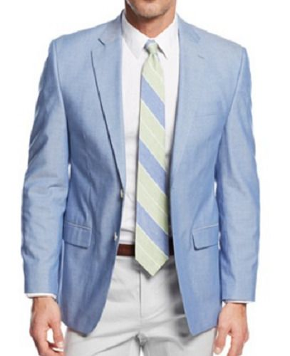 Lauren Ralph Lauren Blazer SZ 42R Men Suit Jacket Sport Coat Light Blue Chambray | Clothing, Shoes & Accessories, Men's Clothing, Blazers & Sport Coats | eBay!