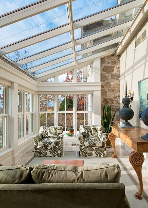 Get Tanned With 20 Glossy Glass Roofed Solariums Home Design Lover Sunroom Designs Sunroom Decorating House Design