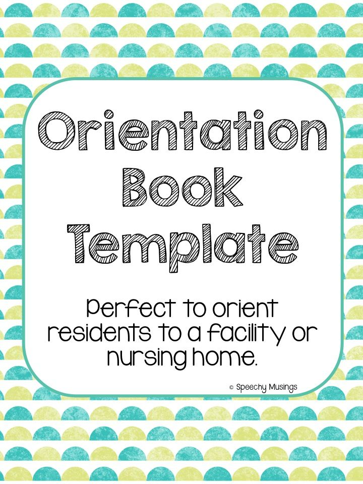 Orientation book template gives options to use pictures