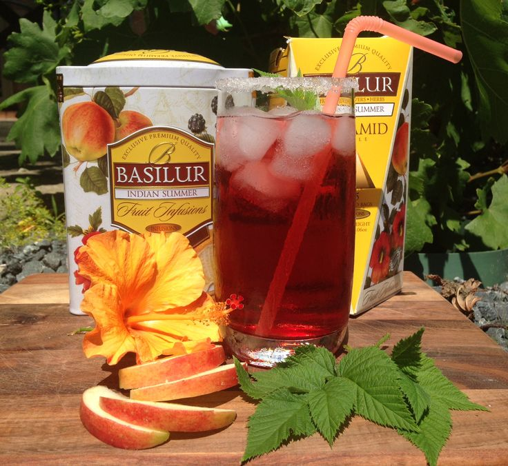 Indian Summer Fruit Infusion from Basilur. With natural apple, raisins and blackberry, rosehip shell and cinnamon, hibiscus and orange peel, rose petals and sunflower the tea is specially created for these summer days. Add some ice and enjoy.  Naturally caffeine free. Find this and many other teas at www.tastyworld.com.au #caffeinefree #rose #icedtea