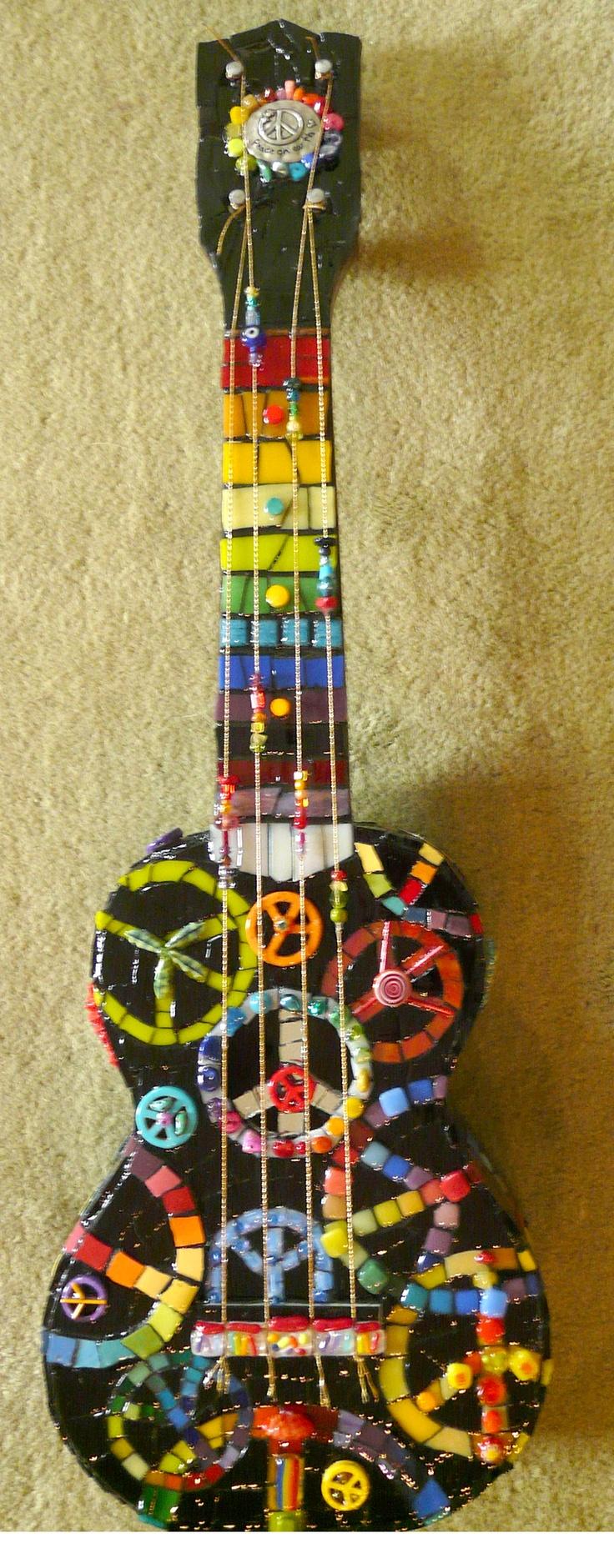 252 best Guitars Mosaic images on Pinterest | Guitars, Mosaic art ...