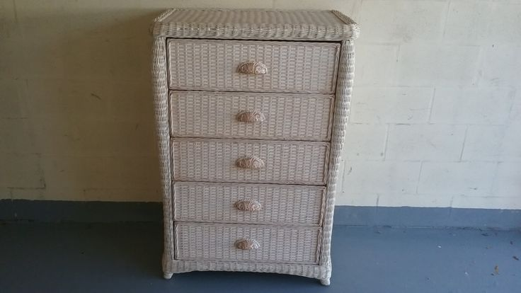 Pier One Wicker Chest, Chest of Drawers, Pier One furniture by DEGFURNITUREDESIGNS on Etsy