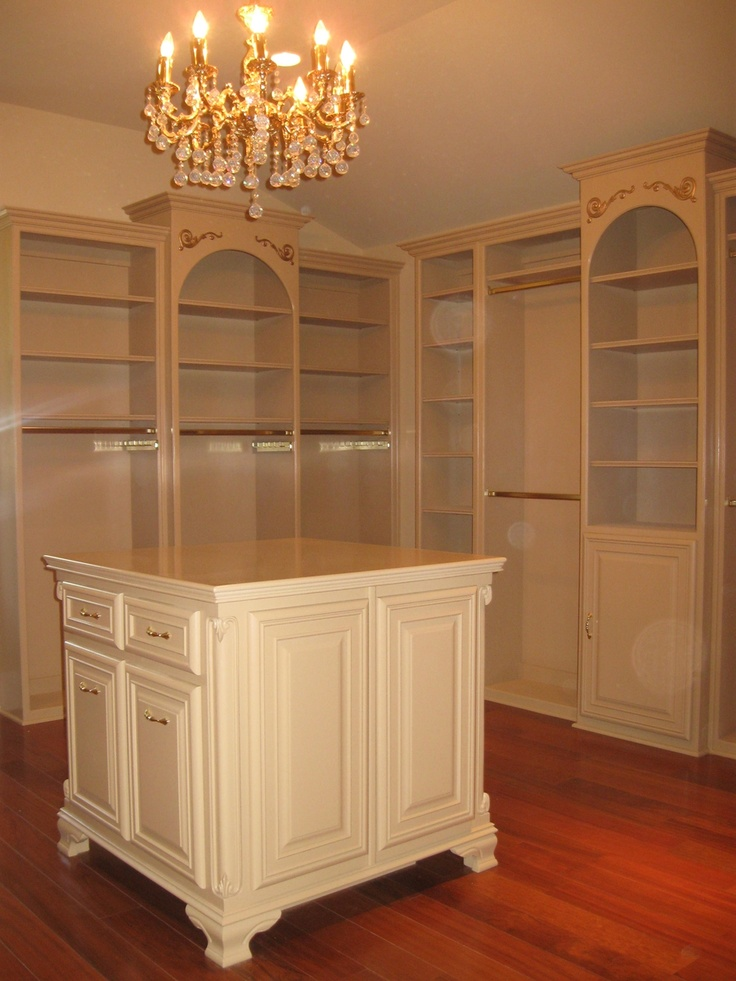 Walk in wardrobe - complete with chandelier!