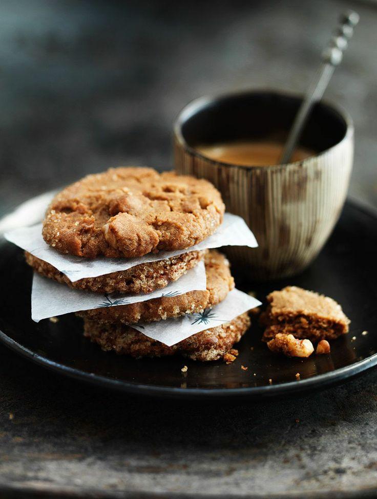koffiekoekjes met gember en walnoot