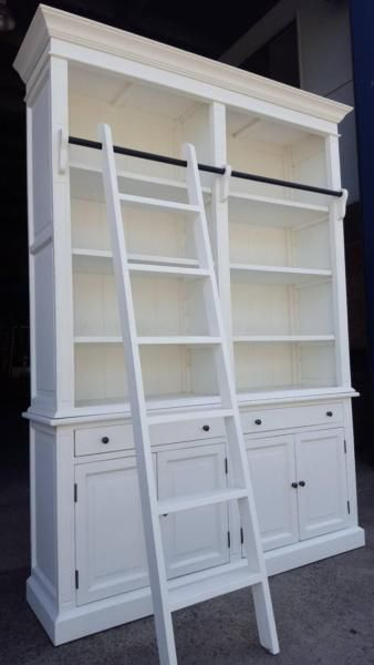 NEW FRENCH PROVINCIAL LIBRARY BOOKCASE SHELF CABINET & LADDER   Bookcases & Shelves   Gumtree Australia Liverpool Area - Chipping Norton   1091505927