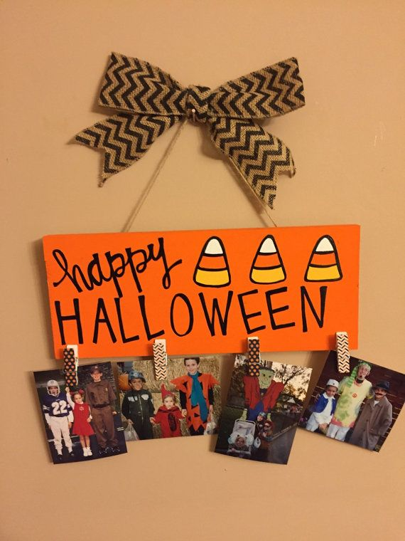 Halloween Picture Frame by CraftyinKY on Etsy