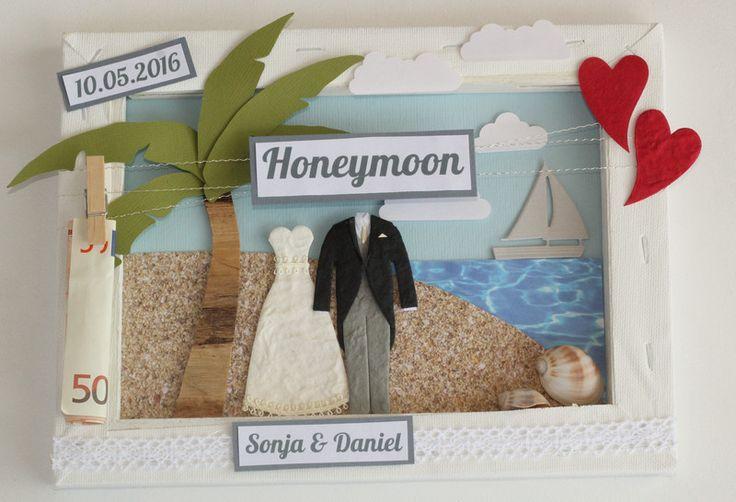 Geldgeschenke - Geldgeschenk zur Hochzeit - Südsee - ein Designerstück von purFuerstlich bei DaWanda