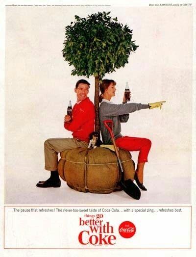 1964 Coca-Cola Plant a Tree & Puppy Ad