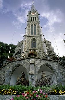 Vaduz Cathedral (Catholic) in   Vaduz, Liechtenstein (neo-Gothic)
