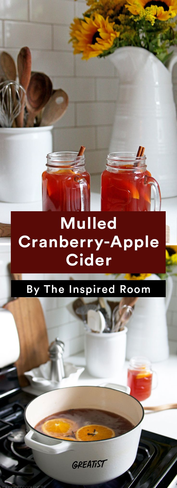 2. Mulled Cranberry-Apple Cider #warm #drinks #recipes http://greatist.com/eat/warm-drink-recipes-better-than-a-pumpkin-spice-latte