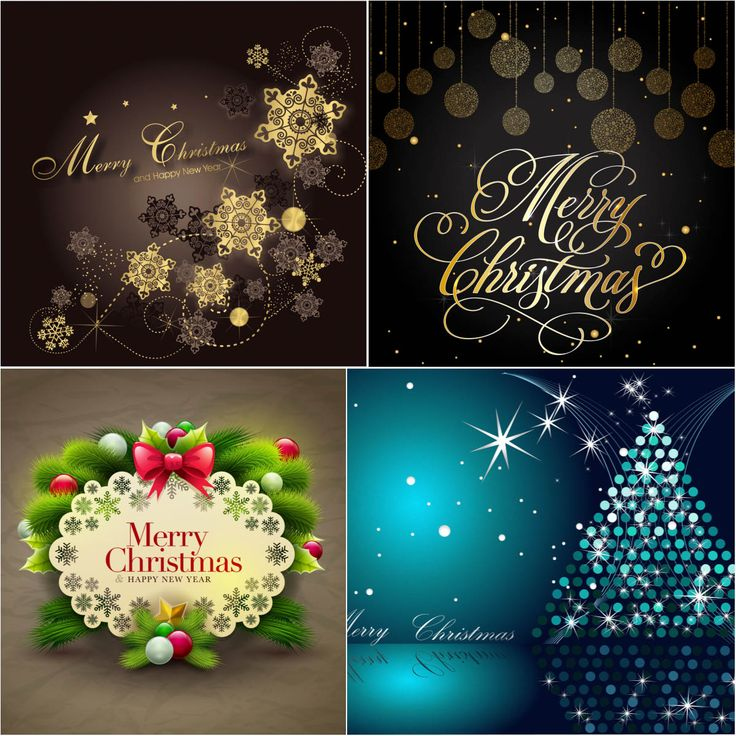 Merry Christmas backgrounds vectors with ornaments 182