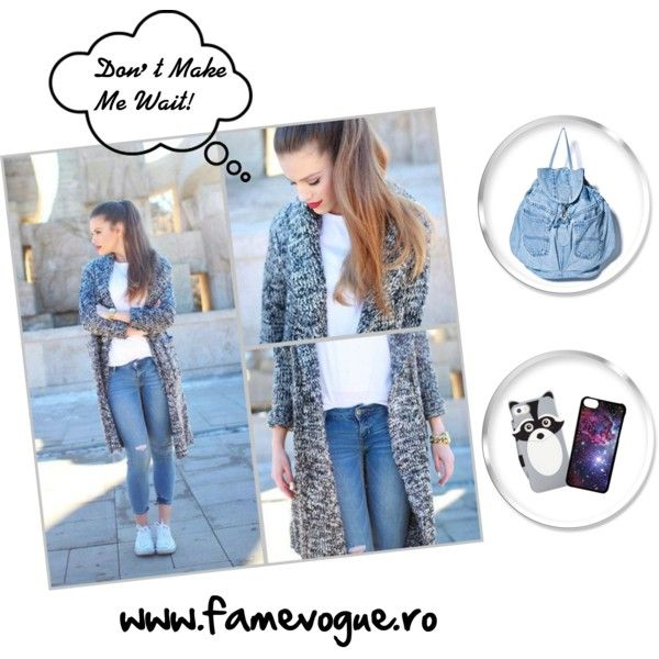 Cardigan Outfit with items available at www.famevogue.com on Polyvore featuring Kate Spade and CellPowerCases...LOVELY....:)  #famevogue #street #style #jeans #cardigan #fashion