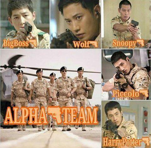 """TEAM ALPHA! FIGHTING! #DescendantsOfTheSun #YooSiJin #KangMoyeon #TeamAlpha"