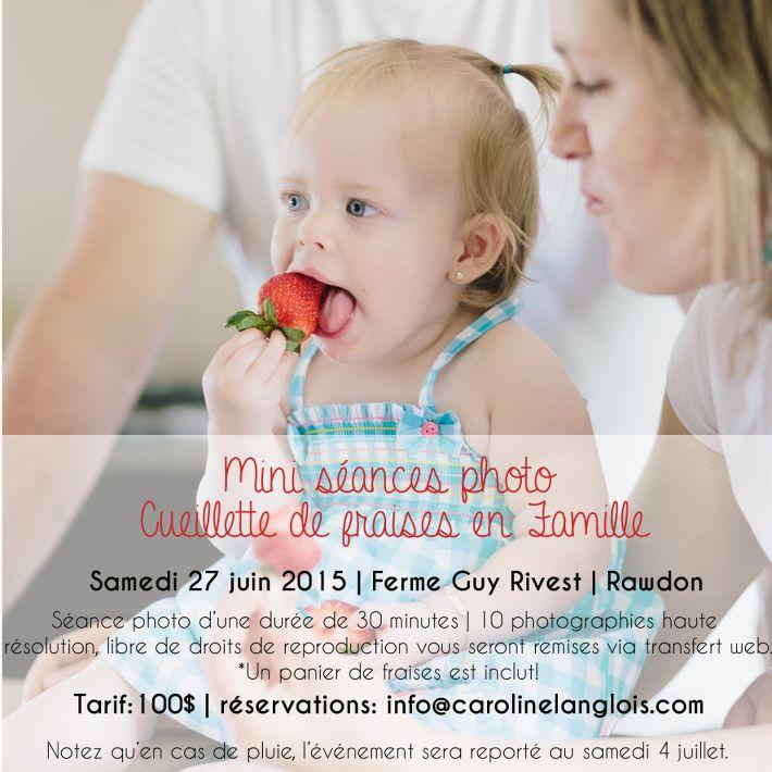 mini séances #photo estivales en #famille dans les champs de #fraises de la ferme Guy Rivest! www.carolinelanglois.com