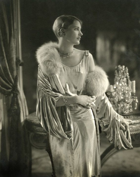 Lee Miller  by Edward Steichen. Dress by Jay-Thorpe in Condé Nast's apartment, 1928. © Condé Nast Publications