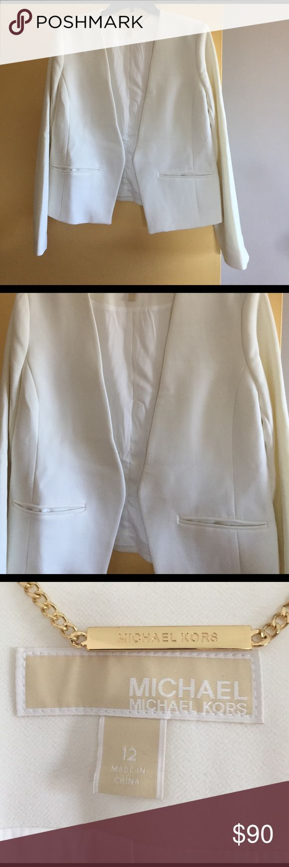 Michael Kors all white open blazer Michael Kors open blazer with front pockets. Michael Kors Jackets & Coats Blazers