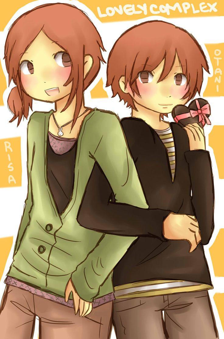 Risa and Otani. Lovely complex, Artwork, Anime