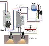 Esquemas eléctricos: CONEXION CELULA FOTOELECTRICA CON CONTACTOR