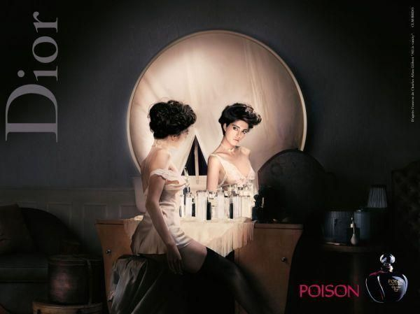Dior poison perfume ad. Love this depiction of a classic image. From afar it's a skull, up close it's a woman at a vanity in front of a mirror
