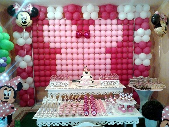 DECORAÇÃO PAINEL PDS MINIE ROSA: Of Celebrating, Festa Minnie, Festas Infantis