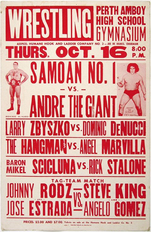 old wrestling posters - Google Search