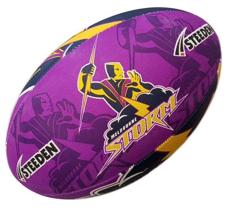Melbourne Storm Rugby Ball by Steeden