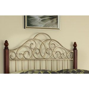 Home Styles St. Ives King/California King Headboard, Cinnamon/Cherry/Aged Gold