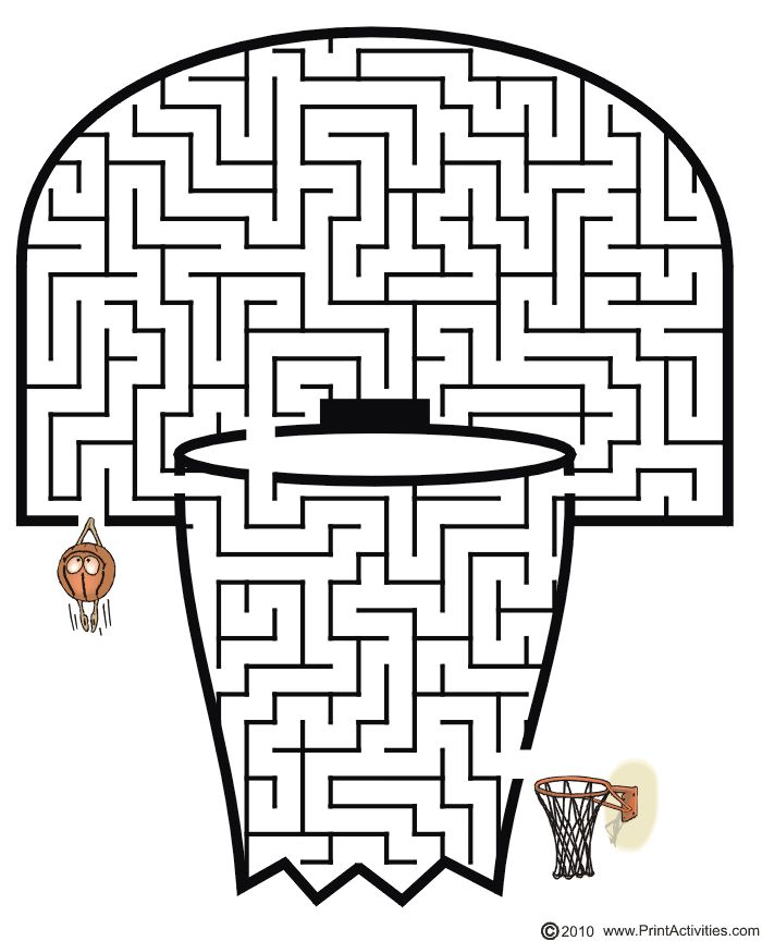 Tons of free printable mazes