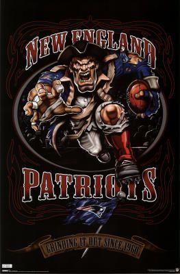 New England Patriots Mascot Poster $5.80