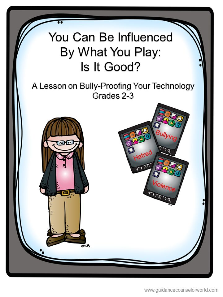Guidance lesson on Social Interactions, for Grades 2-3.Teach your students how to be aware of the dangerous pitfalls of technology, and how to make good choices with technology. NEVER create another guidance lesson again with our aligned K-6 guidance lessons! We've got more GUIDANCE LESSON Plans, all which are aligned for grades K-6! Each lesson plan has a Word doc for each grade level and a PDF that includes all interactive activities and printables. Bullying | Elementary Guidance Lessons
