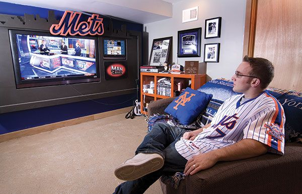 4 steps for transforming dusty basements into amazing man for Sports man cave