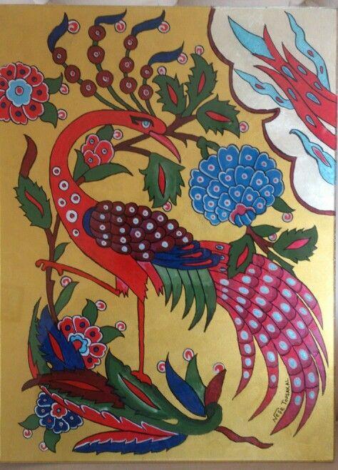 Neş'e TOPSAKAL.. Tavus kuşu. Peacock..    Camaltı boyama çalışmam..underglass.. glasspaint   my work