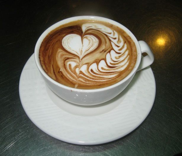 Great work of coffee art - The Giving Hart