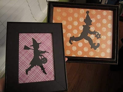halloween silhouette made with a childs year cricut cartridge