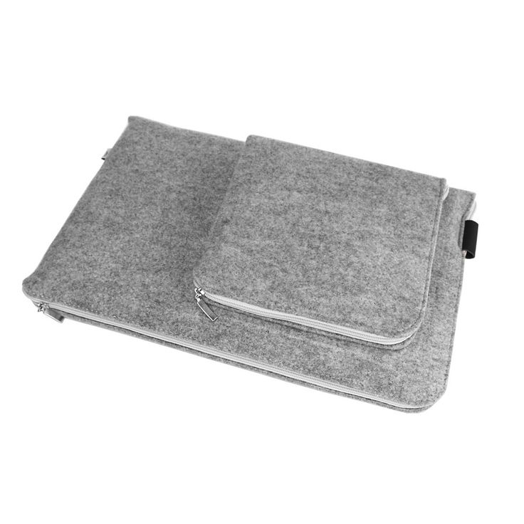 ETUI NA LAPTOPA I ZASILACZ 04 #etui #macbookcover #laptopsleeve #sleeve #felt #white #zipper