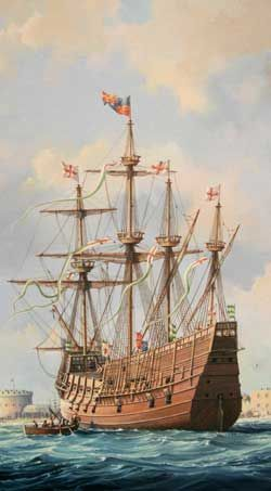 The first battle of the ship Mary Rose. King Henry VIII Prized war ship Raised from the sea and now a museum in Ports Trains run from London Waterloo, Cardiff, Bristol, Southampton, Chichester and Brighton to Portsmouth Harbour station. The station is five minutes walk away