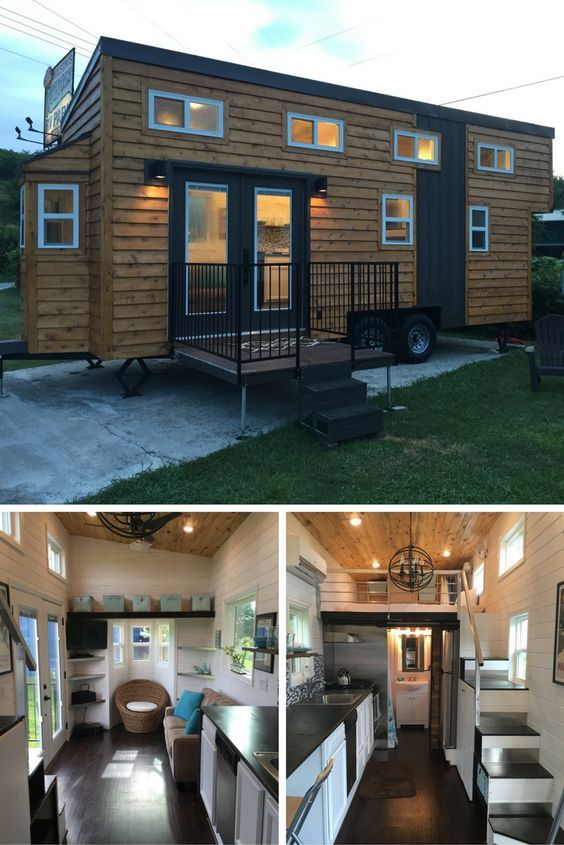 A 280 sq ft tiny on wheels, currently available for sale in Tennessee!