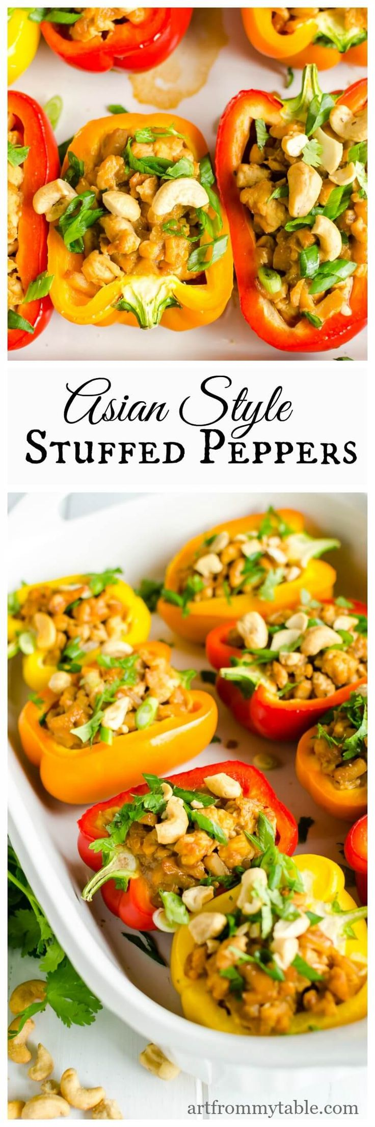 Asian Chicken Bell Peppers Recipe Healthy Stuffed Peppers That Are Easy To Eat