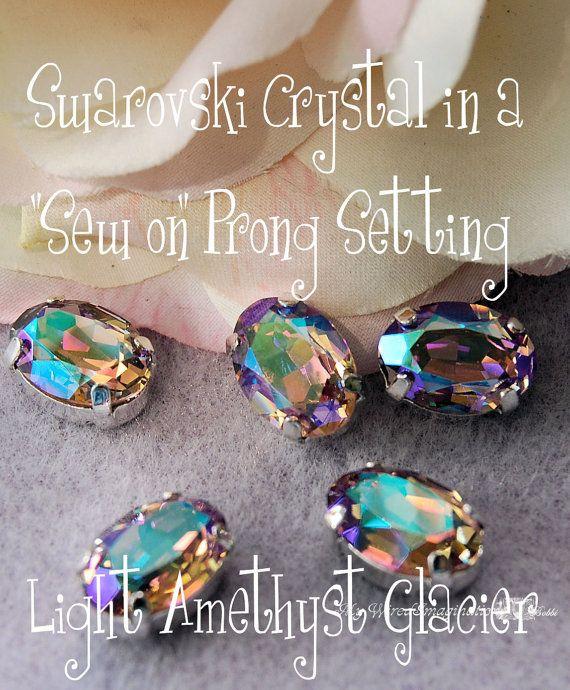 Sew On  Swarovski Crystal Light Amethyst by MyWiredImagination, $7.00