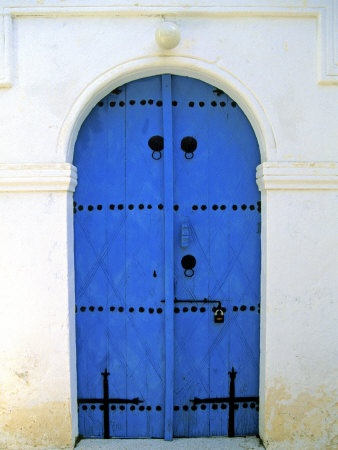 Blue Door, Karaman Village, Northern Cyprus