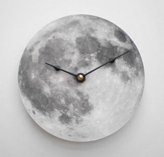 Silver Moon Clock by CyberMoon on Etsy                                                                                                                                                                                 More