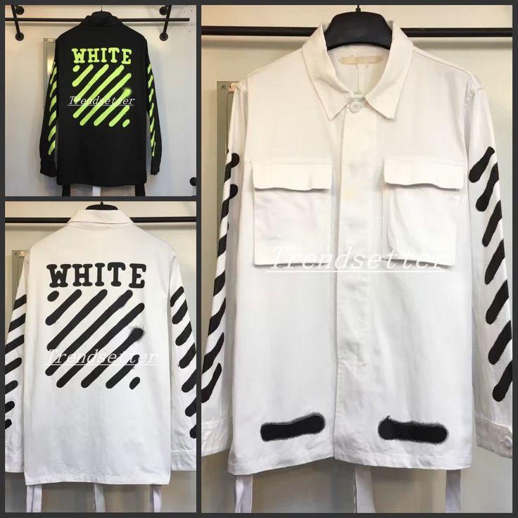 OFF WHITE VIRGIL ABLOH WHITE RSVP GALLERY WHITE BLACK INKJET COAT  offwhitevirgil gallery