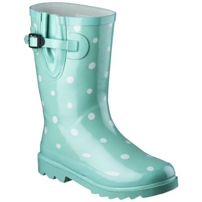Novel Dot Youth Rain Boot Mint - Target (great color for centerpieces- would pop with bright flowers!)