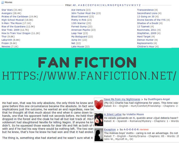Ten Sites You're Embarrassed to Visit (But Do Anyway): FanFiction.net