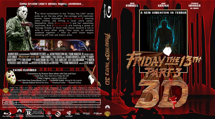 Friday the 13th Part 3 3D Blu-ray Custom Cover