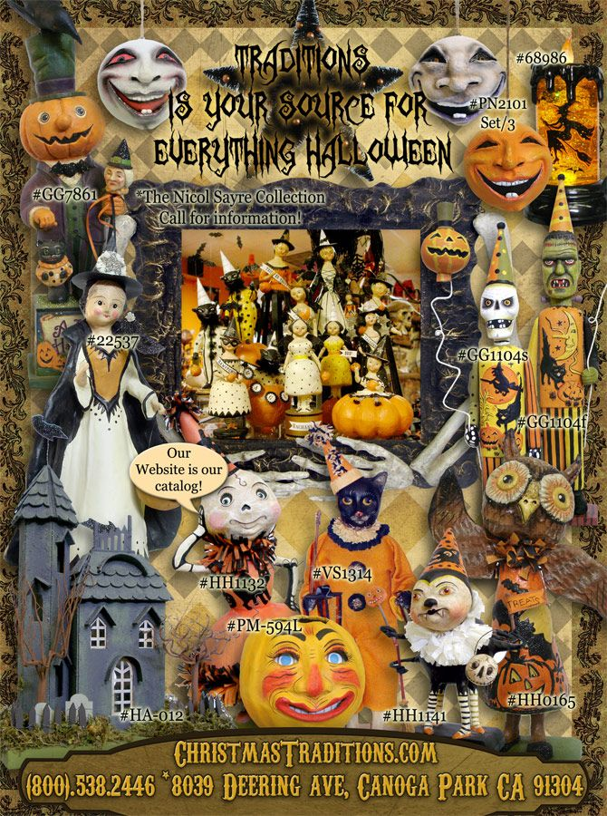here at traditions you will find one of the largest selections of vintage halloween decor and vintage halloween reproductions