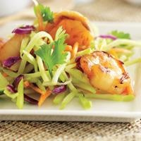 Teriyaki Shrimp Asian Salad is an easy and delicious recipe with only five ingredients